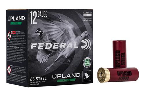 "Federal Shot Shells - Upland Steel - 12 Ga - 2.75"" - 25 Rounds / Box - USH122-6"