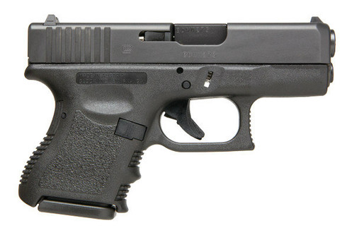 This is a Glock 27 40s&w, Gen 3, with a black finish. Comes with (2) 9 Round Magazines.