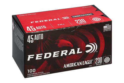 Federal Ammunition - American Eagle - 45 Auto - 230 Grain FMJ - 100 Rd/Bx - AE45A100