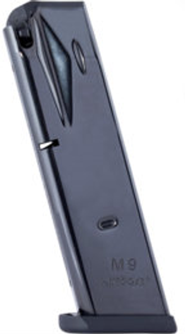 This is a Beretta magazine for the model 92 9mm, 15 round capacity, made by Mec-Gar.