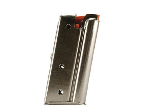This is a 7 round factory magazine for a Marlin .22 long rifle with a nickel finish. Post 1996