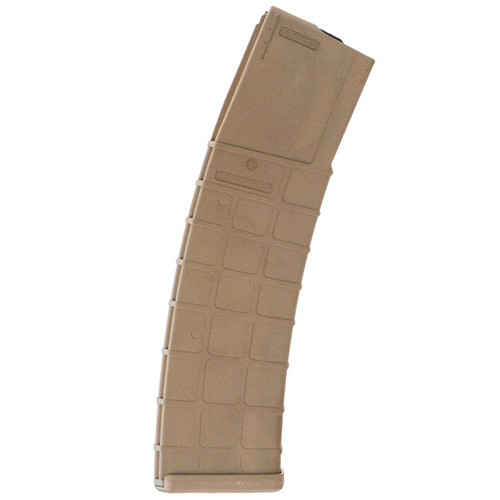 This is a polymer AR-15 magazine .223 / 5.56, tan finish, 42 round capacity, made by ProMag.
