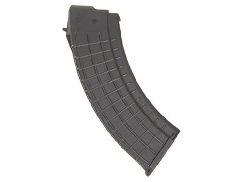 This is a 30 round black polymer AK-47 magazine 7.62 x 39mm, made by ProMag.