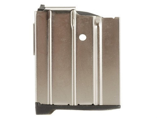This is a Ruger magazine for the Mini-14 .223, 10 round capacity with a nickel finish, made by ProMag.