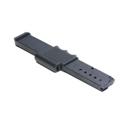 This is a 15 round magazine for the Smith & Wesson Bodyguard .380 acp, made by Pro Mag.
