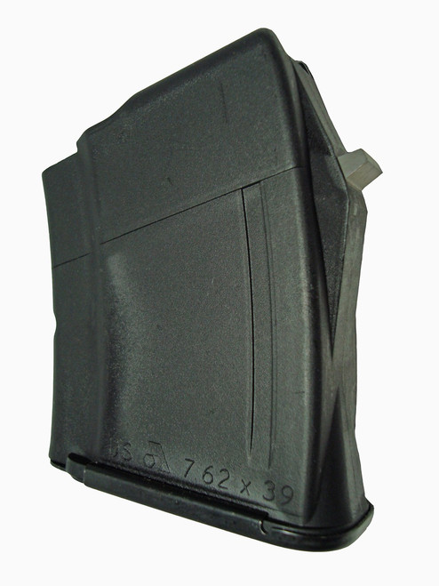 This is a 5 round AK-47 magazine 7.62 x 39mm, made by Arsenal.