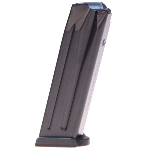 This is a factory HK magazine for the P30 9mm, 15 round capacity.