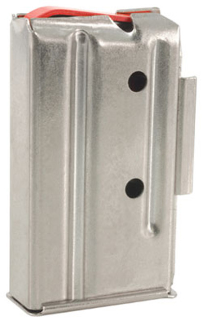 This is a 7 round factory nickel magazine for a Marlin bolt action rifle chambered in .22 WMR or .17 HMR.