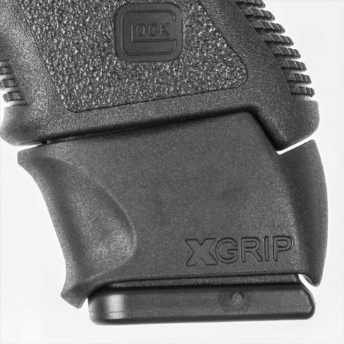 This is the X-Grip for the Glock .45 acp or 10mm, slips over a full size magazine (20, 21) to make it fit into a compact model (29, 30) comfortably.