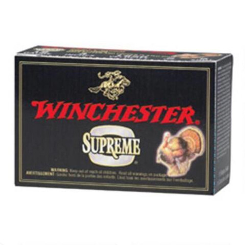"""Winchester Supreme 20 gauge, 2 3/4"""" shell loaded with 5 lead shot (1 oz.), 25 rounds per box, manufactured by Olin under the Winchester trademark."""