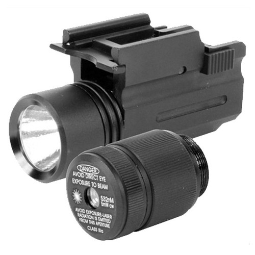 This a laser (green) and light combination attachment for your firearm, made by AIM Sports.