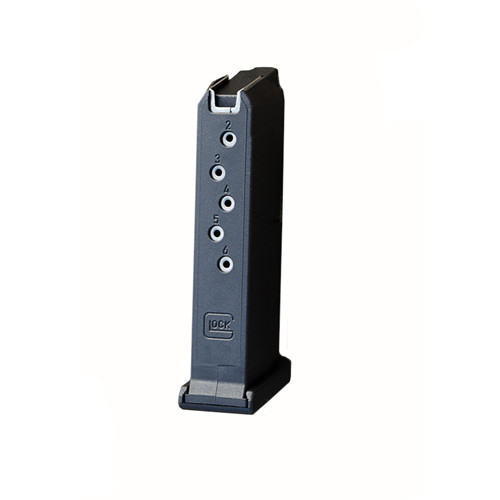 This is a factory Glock magazine for the G43 9mm, 6 round capacity.