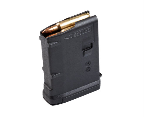 This is an AR-10 magazine 7.62 x 51mm, M3, 10 round capacity, made by Magpul. SR-25 pattern.