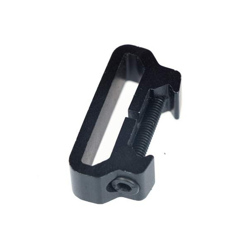 This is an universal sling mount that can be installed on any picatinny/weaver rail system.
