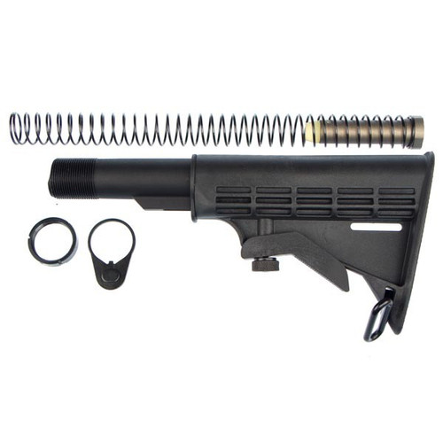 This is an AR-15 collapsible stock , it has 6 positions, made by Target Sports.