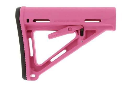 This is an original Magpul MOE Carbine Stock that will fit the AR-15 .223/5.56. It is pink and will only work with Mil-Spec buffer tubes.