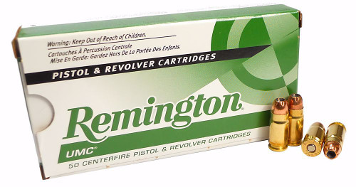 Remington UMC .357 sig 125 Grain Jacked Hollow Point, has 50 rounds per box, manufactured by Remington.