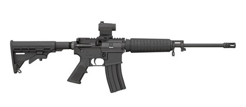 This is a Bushmaster AR-15 5.56 - XM15-E2S rifle chambered in 5.56 Nato. This model comes equipped with a red dot optic for quick target acquisition. 1-(30) round Magpul magazine ships with this firearm.