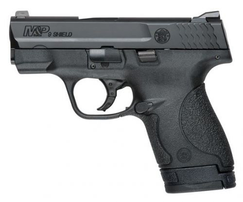 This is a Smith & Wesson Shield 9mm, with no thumb safety. Great concealed carry gun weighing in at a 19 ounces. Comes with (1)-7 round magazine, and (1)-8 round magazine.