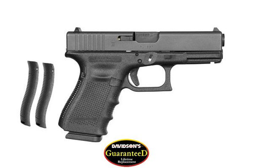 This is a Glock 19 9mm, Gen 4, with a black finish.