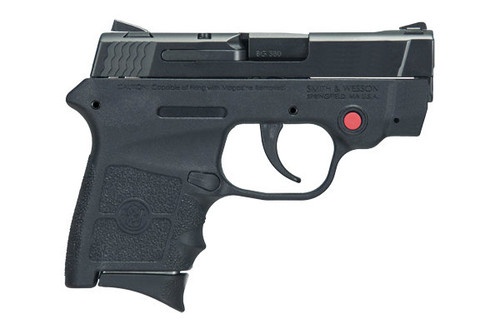 This is a Smith & Wesson Bodyguard .380 acp. This model comes equipped with an internal. Comes with (2)-6 round magazines.