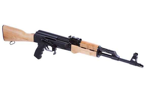 This is a Century Arms Ak-47 rifle model RAS-47 chambered in 7.62x39mm.