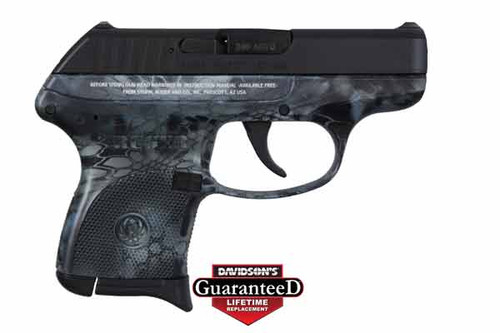 This is a Ruger LCP .380 acp, with the Kryptek Neptune camo pattern.