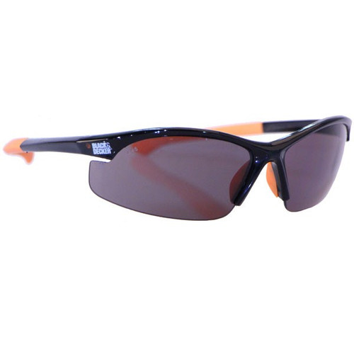 This is a pair of Black & Decker Safety Glasses. Lenses are impact resistant with a scratch resistant coating.