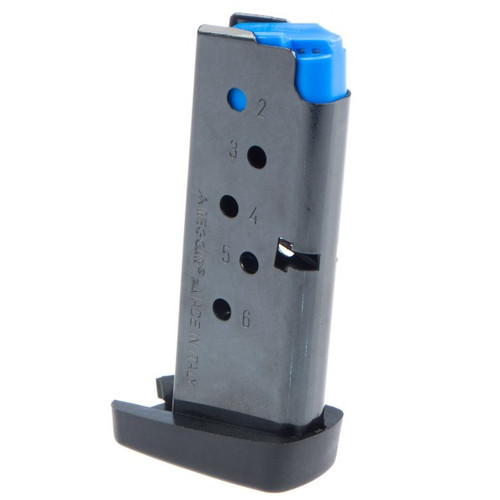 This is a Taurus magazine for the PT-738 TCP .380 acp, 6 round capacity, made by MEC-GAR.