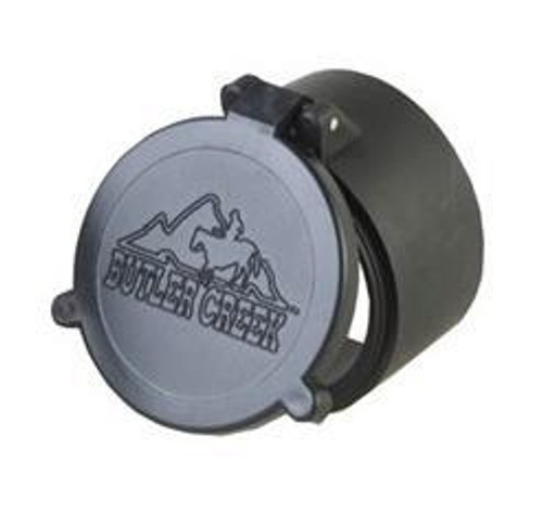 """This Butler Creek flip-open scope cover, it is size 23, which fit a 1.76"""" or 44.7mm."""