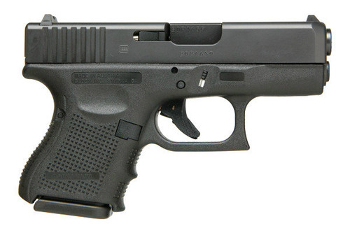 This is a Glock 26 9mm, Gen 3, with a black finish. Comes with (2) 10 Round Magazines.