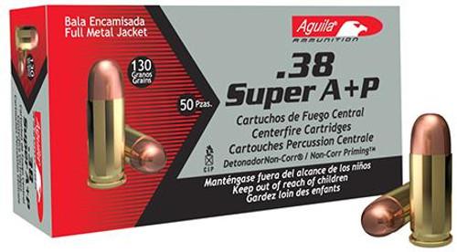 Aguila 38 Super Auto+P 125 Gr. FMJ 50 Rounds / Box Ammo