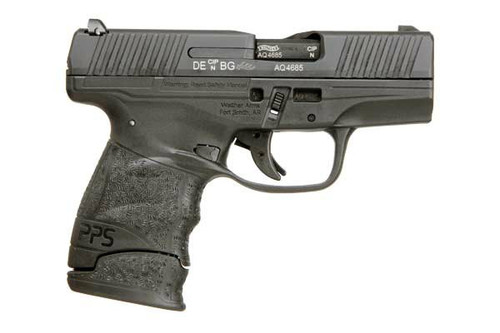 This is a Walther PPS M2 pistol chambered in 9mm.