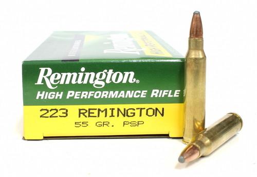 Remington .223 rem 55 Grain Pointed Soft Point (PSP) 20 Rounds/ Box Ammo 047700050904