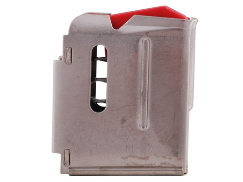 This is a 5 round stainless steel factory magazine for the Savage 90 or 93 chambered in 17 HMR or 22 WMR.