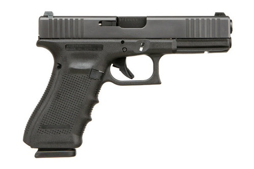 This is a Glock 17 9mm, Gen 4, with the front serrations and the extended controls (slide release). Special Summer 2017 Edition Glock.