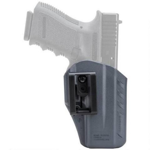 This is a Blackhawk holster for the Glock 19 / 23 / 32. Inside the waist, left or right hand.