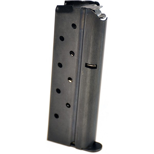 This is a 1911 magazine full-size 9mm blued magazine, 8 round capacity, made by Metalform.