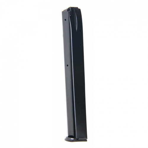 This is a Daewoo magazine for the DP-51 9mm pistol, 32 round capacity. Manufactured by Pro Mag