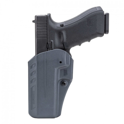 This is a Blackhawk holster for the Glock 17/22/31. Inside the waist, left or right hand.