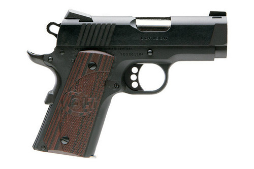 This is a 1911 Colt Defender chambered in .45 acp, defender model, series 80. This model has a foliage green cerakote frame and G10 thin green grips, comes with (2) 7 round magazines.