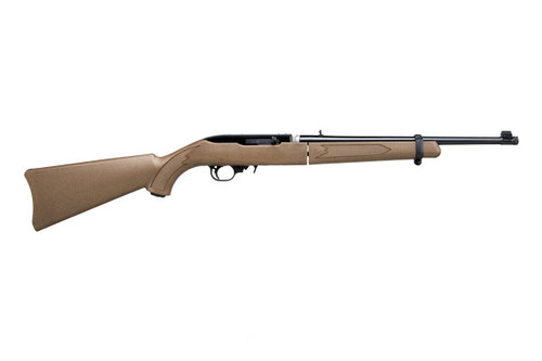 Ruger 10/22 Take down edition in Mica Bronze with a threaded barrel.