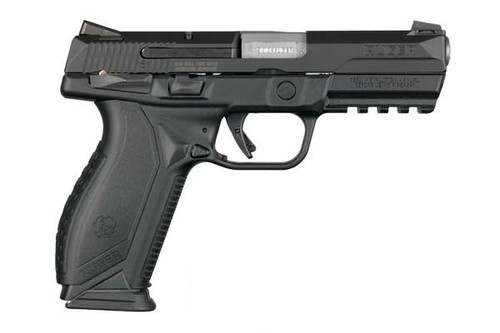 This is a Ruger American Pistol 9mm. This model has the manual thumb safety.