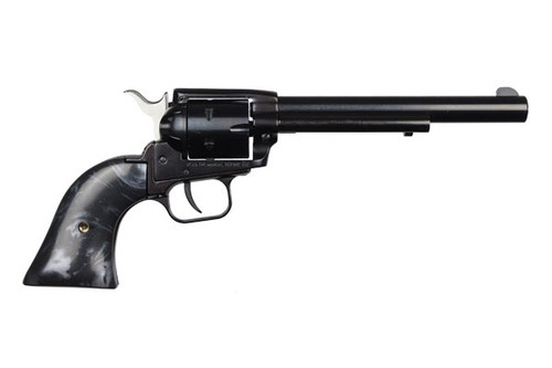 """This is a Heritage Rough Rider Revolver chambered in .22 lr, has a 6.5"""" barrel."""