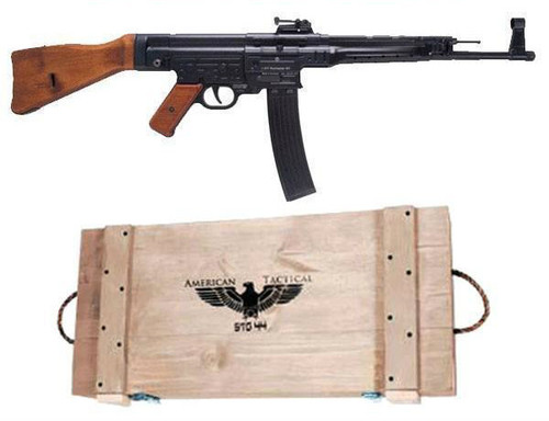 GSG STG-44 chambered in 22 lr comes with hand made wooden Pine crate.