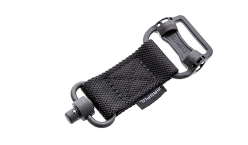 This is an adapter for quick transition from a two point sling to a single point sling, manufactured by Magpul.