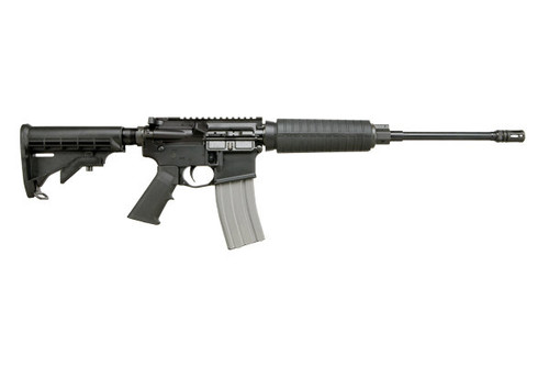 This is a Del-Ton, Echo, AR-15 rifle chambered in 5.56 Nato.