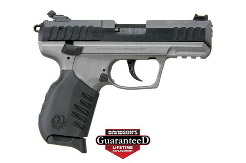 This is a Ruger SR22 .22 lr, with a Tungsten Cerakote finish.