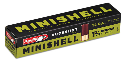 These are 12 ga Minishell buckshot manufactured by Aquila.