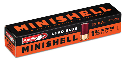 These are 12 ga Minishell lead slug manufactured by Aquila.